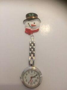 Snowman Handmade Nurse / Vet Nurse / Student Fob Watch.