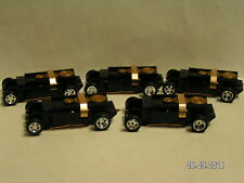 5 NEW T-Dash Tjet Slot Car Chassis w/Custom Chrome Wheels/Tires