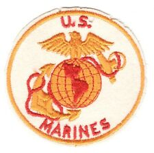 USMC Marine Patch:  U.S. Marines on white felt - 4""