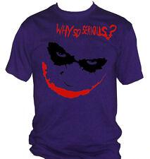 fm10 camiseta de hombre JOKER Why So Serious ? Batman CINE Y TV
