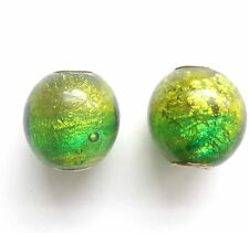 6 Lamp Work Glass Dichroic Beads 20mm Hole 5mm for European Charm Bracelet