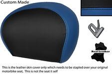 Black & R Azul Custom encaja Piaggio Vespa 125 250 300 Gts Cuero Respaldo cubierta