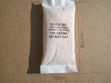 SILICA GEL 6 x100gm  SACHET COLOUR CHANGE FOR CAMERAS LENS etc