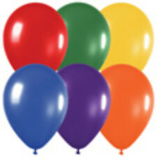 12 Metallic Assortment Latex Balloons Helium Grade 11""