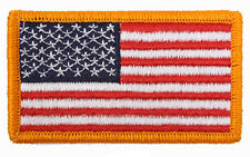 """USA Flag Patch Hook Back 2"""" x 3 1/4"""" Made In The USA"""