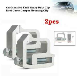 2xCar Modified Shell Heavy Duty Clip Roof Cover Camper Mounting Clips Universal