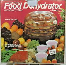 Ronco - 3 Tray Electric Food Dehydrator and Yogurt Maker Brand New Model 1875