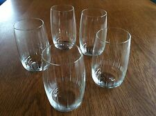 5 Gläser Kristall Glas Handgeschliffen Mundgeblasen ROMA / 60er Jahre Neuwertig