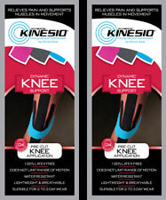 KINESIO Pre Cut Tape - PACK OF 2 for KNEE injuries & support. FREE POST