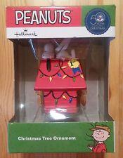 Snoopy en su casa/Peanuts-remolque de hallmark Christmas/nuevo & OVP