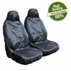 Heavy Duty Front Seat Covers Universal Car Van Black Waterproof Protectors UK