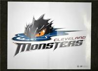 2017-18 17-18 UD Upper Deck AHL Hockey Team Poster Cleveland Monsters