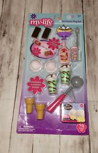 """Ice Cream Play Set for 18"""" doll American girl our generation my life as  14 PC."""