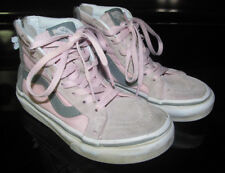 Vans of The Wall Girls Pink Gray High Top Sneakers Shoes Zipper Back Size 11 Nwt