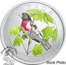 Canada 2012 25 Cents Rose-Breasted Grosbeak Coloured Coin