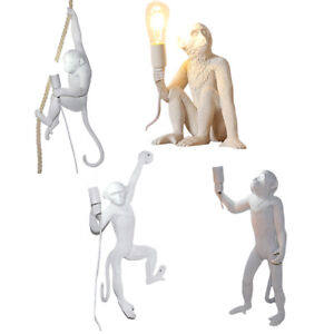 Monkey Table Lamp Nordic Light Resin Simian Hanging Rope Wall Lights Hotel