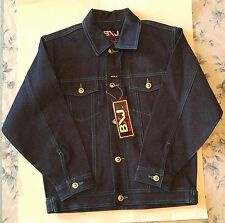New Boom X Jeans boys jacket Dark Blue Coat Size 12 14  BXJ