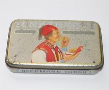 alte Blechdose, Zigaretten Tabak Türkenkost Beckmann Bünde W. #C190