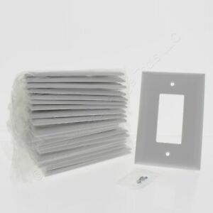 20 P&S White Jumbo 1G Decorator GFCI Plastic Wallplate Thermoset Covers SPO26-W