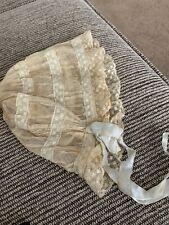 StunniNg victorian lace night bonnet.netting. ribbon