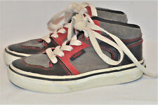 VANS BOYS YOUTH 10.5 HIGH TOP SNEAKERS SHOES LEATHER SUEDE & CANVAS