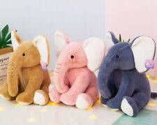 Elephant Soft Plush Toys Stuffed Animals Cute Cuddly Pink/Blue/Brown/ Elephants
