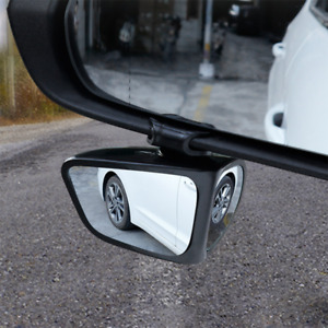 2Pcs Cars Rear View Blind Spot Mirror 360° Rotation Lens Adjustable Universal