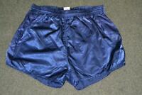 RETRO FINALE SPORT SHINY NYLON BLUE FOOTBALL CASUAL SPORTS SHORTS MENS 8 XL