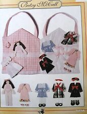 """Betsy McCall fabric doll house carry-all tote & paper doll like 8"""" girl clothes"""