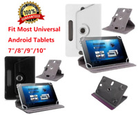 """Folio Leather Case stand Cover Fits Universal Android Tablet PC 7"""" 8"""" 9"""" 10"""""""