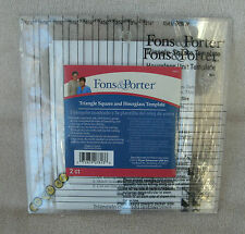 Fons & Porter Triangle Square & Hourglass Templates ~ NEW