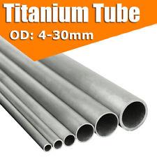 4~30mm OD Gr2 Titanium Tube High Intensity Industrial Ti Pipe 300/400/500mm Long