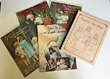 Lot of Five Vintage Smocking Sewing Books 1980s Instructions Photographs