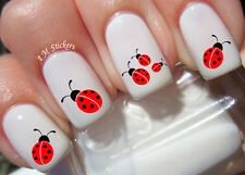 Ladybug Nail Art Stickers Transfers Decals Set of 62