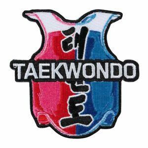 Martial Arts Embroidered Badge - Taekwondo Vest Gi Patches Badges Uniform Suit