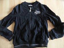 AIRFIELD schöne Jerseyjacke schwarz m. Stickerei Gr. 10 J / 140 TOP OA1214