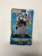 "VTG Mattel Disney Pocahontas Meeko Raccoon Plush Finger Puppet New MIB 6"" 1995"