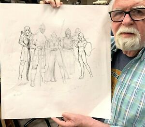 Larry Elmore - EverQuest Original Drawing Pencil And Some Ink - DragonLance D&D
