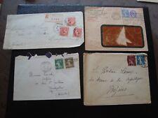 FRANCE - 4 enveloppes 1926/1927/1930/192? (B16)