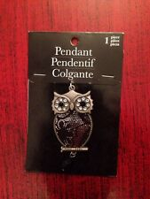 Horizon Group Inc - Silver And Black Baroque Colored Owl Pendant