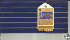 Lancia Integrale Flavia Hi Fi Small Italian Brochure Prospekt Catalog 1988