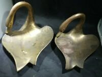 Pair of Art Nouveau Vintage Brass Swan Ashtray or Trinket Dishes - Nice Quality!