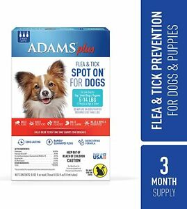 Adams Plus Flea and Tick Spot On for Small Dogs 5-14 lbs.