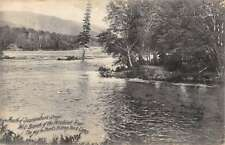 Penobscot River Maine Sourdnahunk Stream Scenic View Antique Postcard K84133