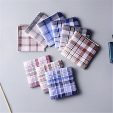 5Pcs/lot 100% Cotton Mans Gents Handkerchiefs Pocket Square Hanky 38cm x38cm