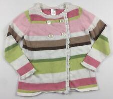 Janie and Jack Girls Size 3 3T Soda Fountain Striped Sweater Cardigan