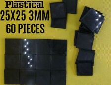 25mm 25x25mm 3mm plastic square miniature bases Warhammer BUY 2 PACKS GET 1 FREE