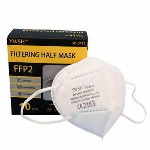 10x Sunfoam® FFP2 Atemschutzmasken CE2163, EN149:2001+A1:2009 FFP2 NR, einzeln