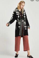 Zara Jaquard Coat Womens Knit Coat Medium