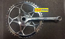 Bicycle Chainset 46T 1/2 x 1/8 Chrome Vintage Cottered + Left Hand Crank Fixie